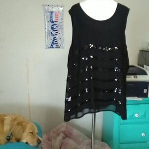 Fab ANA black shell with sequins, sz 2X